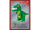 Gear No: ctw111  Name: Create the World Trading Card #111 Create: Dinosaur