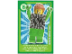 Gear No: ctwLA006  Name: Create the World Living Amazingly Trading Card #006 Green Brick Guy