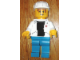 Gear No: displayfig03  Name: Display Figure 7in x 11in x 19in (white jacket, blue pants, black T-Shirt, construction helmet)