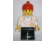 Gear No: displayfig13  Name: Display Figure 7in x 11in x 19in (Female - white shirt with necklace, black legs, red ponytail)
