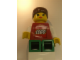 Gear No: displayfig16  Name: Display Figure 7in x 11in x 19in (Female - red shirt with Lego Logo, green legs, brown ponytail)