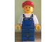 Gear No: displayfig31  Name: Display Figure Giant, 95cm (Blue Overalls, Tools in Pocket, Red Cap)