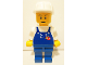 Gear No: displayfig48  Name: Display Figure 7in x 11in x 19in (blue overalls, blue pants, construction helmet, white pupils)