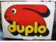 Gear No: displaysign007  Name: Display Sign Large Duplo Logo (Old Style) on White Background