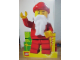 Gear No: displaysign037  Name: Display Sign Minifigure Santa with Motorized Waving Arm Christmas 2011 (goes with Folding Backdrop)