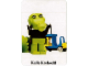 Gear No: fabc09b  Name: Fabuland Memory Game Card # 9 - Kalle Krokodil