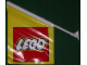 Gear No: flagfr  Name: Display Flag Vinyl, Lego Logo with Bracket Mount