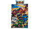 Gear No: fullbedset4  Name: Bedding, Duvet Cover and Pillowcases (140 x 200cm - 70 x 80/90cm) - Ninjago 6 Characters