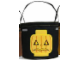 Gear No: hallobag3  Name: Storage Bucket Halloween Soft Bucket - Black with Jack O' Lantern Pattern