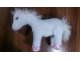 Gear No: horse1  Name: Belville Large White Horse Plush, Fully Poseable Legs, Pink Feet and Pink Bows