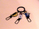 Gear No: ickc12  Name: Imagination Center Key Chain Female worker with Construction helmet