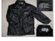 Gear No: jacket1  Name: Jacket, Black Leather, 'LEGO WEAR' Embroidery on Chest, Lego Logo tag on side