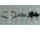 Gear No: kcplate  Name: 1 x 2 Plate with 1 Finger on Side and Chrome Silver Key Chain