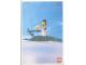 Gear No: lap00-003  Name: Postcard - Lego Art Project 2000 - 003 - Minifigure Standing on Crocodile