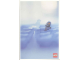 Gear No: lap00-007  Name: Postcard - Lego Art Project 2000 - 007 - Arctic Minifigure on Ice with Clear Seal