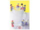 Gear No: lap00-012  Name: Postcard - Lego Art Project 2000 - 012 - 7 Minifigures with Cups and Glasses Hanging from Large Cup