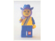 Gear No: lap02-025  Name: Postcard - Lego Art Project 2002 - 025 - Minifigure Looking Through Magnifying Glass