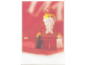 Gear No: lap02-028  Name: Postcard - Lego Art Project 2002 - 028 - Santa Minifigure with 2 Suitcases