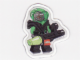 Gear No: mag009  Name: Magnet Flat, Minifigure Insectoid Green Verniers