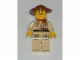 Gear No: magadv  Name: Magnet, Minifigure Johnny Thunder - Tan Torso, Tan Pants with Pockets