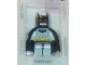 Gear No: magbat001  Name: Magnet, Minifigure Batman, Batman Light Bluish Gray Suit