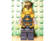 Gear No: magcas332  Name: Magnet, Minifigure Castle Fantasy Era Crown King with Chrome Gold Crown