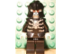 Gear No: magcasfantasy03  Name: Magnet, Minifigure Castle Fantasy Era Skeleton Warrior 1, Black Breastplate and Helmet, Black Arms, White Hands, Black Hips and Legs