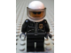 Gear No: magcty006  Name: Magnet, Minifigure City Police Officer - City Leather Jacket with Gold Badge, White Helmet, Trans-Black Visor, Black Sunglasses