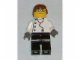 Gear No: magdoc028  Name: Magnet, Minifigure City Doctor - Black Legs, Glasses, Reddish Brown Male Hair