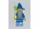 Gear No: magwiz  Name: Magnet, Minifigure Castle Wizard - Blue Torso Plain, Blue Hat