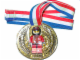 Gear No: medal  Name: Medal with Ribbon, Racers with removable Red Racers Minifigure
