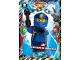 Gear No: njo3fr032  Name: Ninjago Trading Card Game (French) Série 3 - #32 Jay au Royaume du Jamais-Gelé