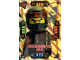 Gear No: njo4de147  Name: Ninjago Trading Card Game (German) Series 4 - #147 Drachenmeister Cole Card