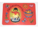 Gear No: pcA1  Name: Postcard - Birthday Party Invitation with Stickers - A-1 Homemaker Figure with Cake (Dutch)