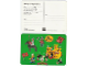 Gear No: pcA5  Name: Postcard - Birthday Party Invitation with Stickers - A-5 Classic Yellow Castle (Dutch)