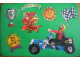 Gear No: pcA6  Name: Postcard - Birthday Party Invitation with Stickers - A-6 Technic Racer (Dutch)