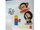 Gear No: pfstk01  Name: Sticker, Paul Frank - Minifigure Asking Julius for Change