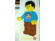 Gear No: pfstk07  Name: Sticker, Paul Frank - Minifigure Wearing Julius Shirt