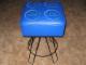Gear No: pfstoolblue  Name: Stool, Paul Frank LEGO 2 x 2 Brick, Blue