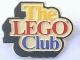 Gear No: pin002  Name: Pin, The Lego Club UK Badge, Yellow/Red/Blue Text
