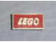 Gear No: pin019  Name: Pin, Lego Logo Framed, Cast Metal - Clasp Attachment