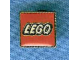 Gear No: pin084  Name: Pin, Lego Logo Square Red, Braided Border