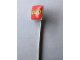 Gear No: pin091  Name: Pin, Lego Logo Square Red - Stick Pin Attachment
