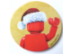 Gear No: pin100  Name: Pin, Minifigure - Santa Cap (Plastic Clip)