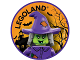 Gear No: pin216  Name: Pin, Legoland Witch 2 Piece Badge