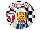 Gear No: pin217  Name: Pin, Legoland Butcher 2 Piece Badge