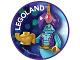 Gear No: pin221  Name: Pin, Legoland Genie 2 Piece Badge