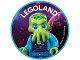 Gear No: pin223  Name: Pin, Legoland Alien 2 Piece Badge