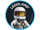 Gear No: pin224  Name: Pin, Legoland Astronaut 2 Piece Badge