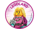 Gear No: pin225  Name: Pin, Legoland Astronaut 2 Piece Badge